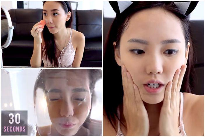 """A palavra Jamsu significa """"imerso em água"""", na prática essa técnica consiste em mergulhar o seu rosto depois de maquiado na água por 30 segundos. Este mais novo truque foi inventado pela voggler sul-coreana FavFul e promete fazer a make durar bem mais até naquelas dias super quentes."""