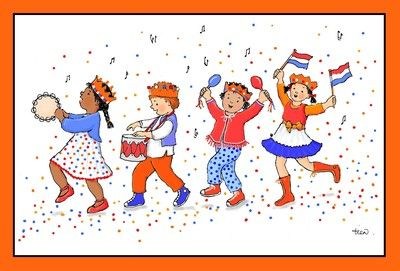 Liedjes voor koningsdag, waaronder Koningsdag in Amsterdam, met MP3