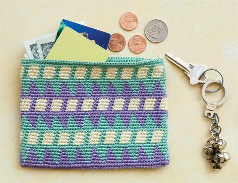Tapestry Crochet Wallet | crochet today