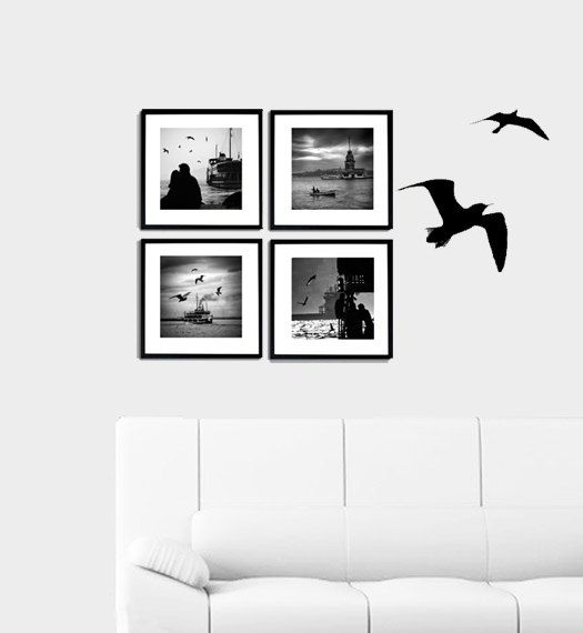 Wall decor   4 Photo set  6''x6'' inch Black and white #homedecor #walldecor #photography #walldecorations #etsybot #walldecorideas #roominteriordecoration #WallArtPrints #prints #istanbulphotography