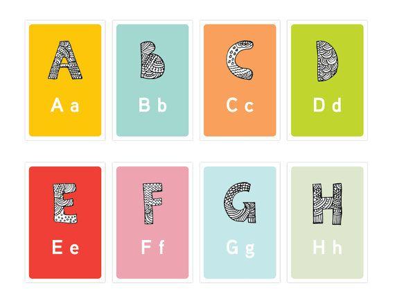 Children Printable Diy Alphabet Flash Cards Wall Cards