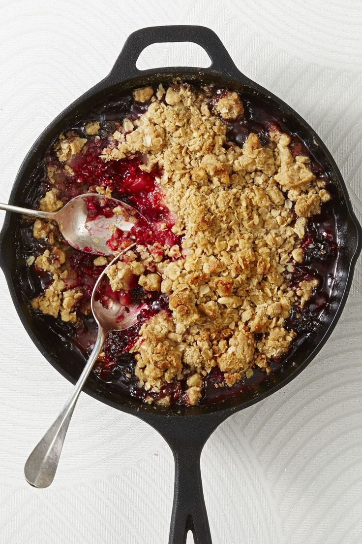Spiced Pear and Berry Crumble - GoodHousekeeping.com