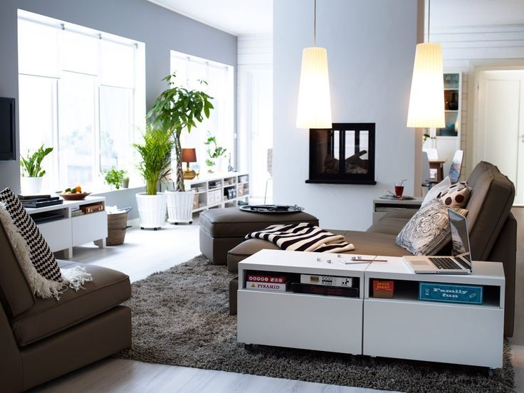 adorable ikea living room design ideas soothing white wall ikea living room with cozy brown sofa and ornamental plants