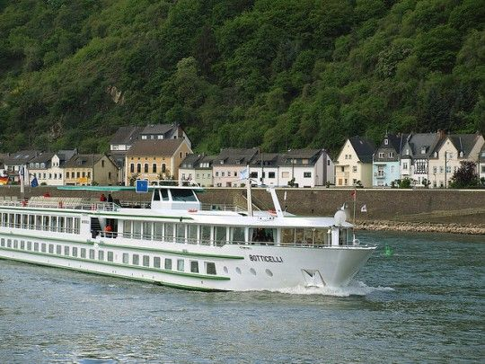 When cycling the Danube Bike route between Passau and Budapest you often see river boats.
