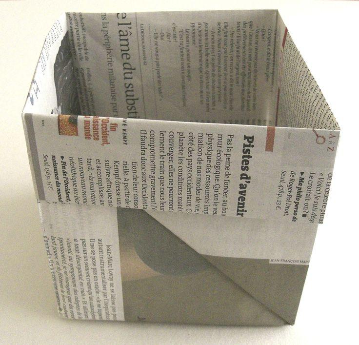 les 25 meilleures id es de la cat gorie panier en papier journal sur pinterest panier de. Black Bedroom Furniture Sets. Home Design Ideas