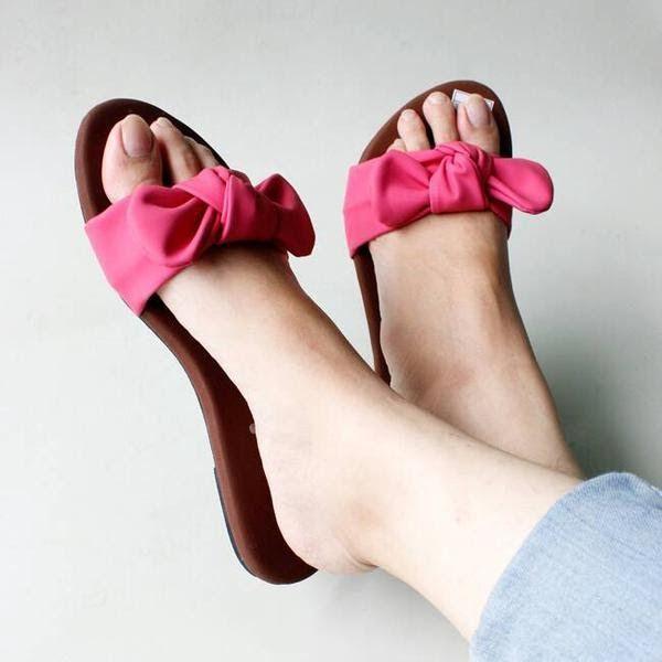 Sepatu Sandal Wanita Pita Di 2020 Sepatu Wanita Bergaya Wanita