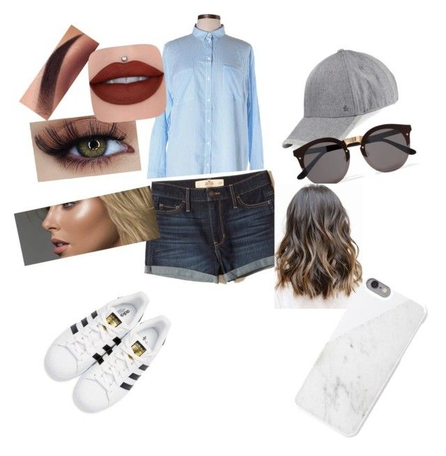 """""""Going out on a sunny day"""" by jessfry10 on Polyvore featuring Divided by H&M, Hollister Co., Original Penguin, Illesteva, adidas Originals and Native Union"""