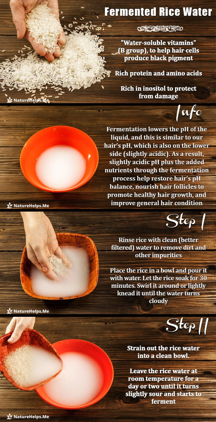 Fermented Rice Water Shampoo for Great Hair  Rice water can become a perfect alternative to store bought shampoo as rice may significantly improve hair condition. That milky-colored liquid left over from rinsing or boiling rice is a secret ingredient to beautiful hair