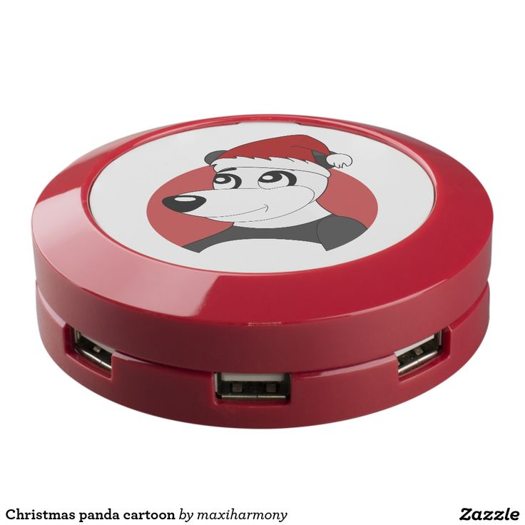Christmas panda cartoon USB charging station