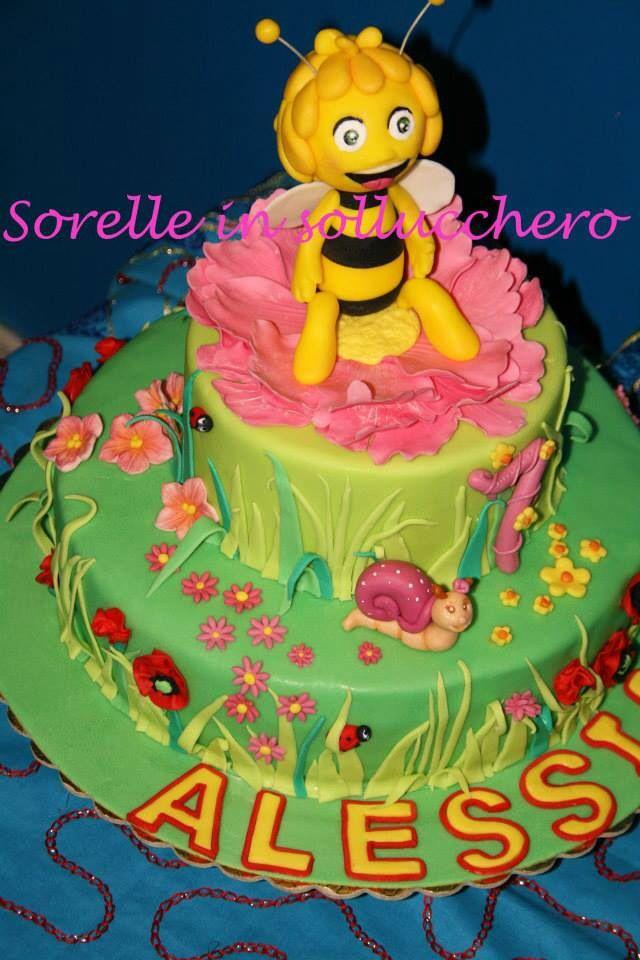 Maia the bee cake, torta ape maia ed una simpatica lumachina