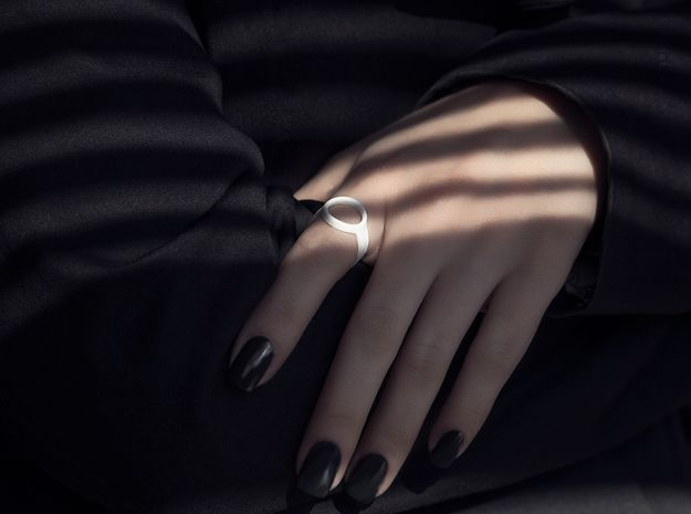 Pared-Down Open Circle Ring by P3PPERS