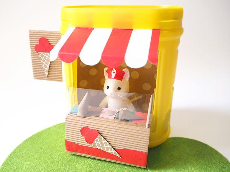 C'est dans la boite ! DIY : le stand de glaces – Les Moustachoux