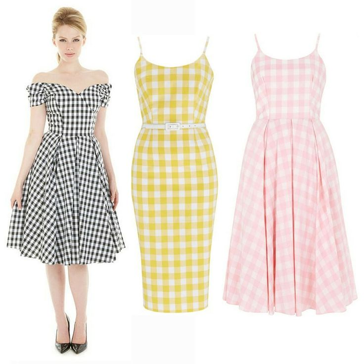 Our gingham dresses are perfect summer picnic attire #fashion #style #print #pattern #check #gingham #monochrome #pastel #elegant #chic #classic #sophisticated #retro #vintage #50s #fifties #1950s #theprettydress #theprettydresscompany