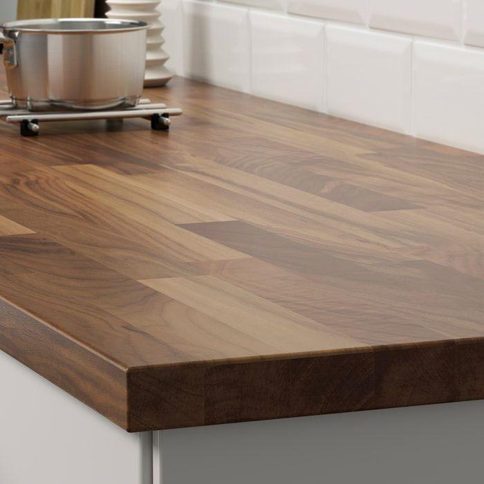 Karlby Countertop Walnut Veneer 98x1 1 2 Ikea In 2020 Karlby Countertop Countertops Wood Countertops