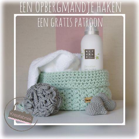 Een gratis haakpatroon van Kreafabriek. Voor wie maak jij deze mooie set?Volgend weekend is het moederdag dus dan is dit mandje een mooi persoonlijk cadeau.
