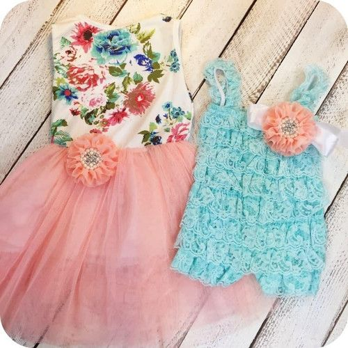 Matching sister outfits, big sister, little sister, Garden Sister Set, Girl Dress, Flower girl dress ideas, wedding ideas, girl boutique clothing, birthday party ideas, birthday toddler dress. Perfect for s