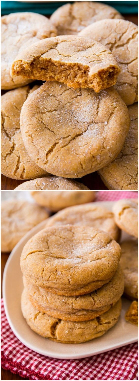 Super soft and chewy brown sugar cookies - no mixer required!
