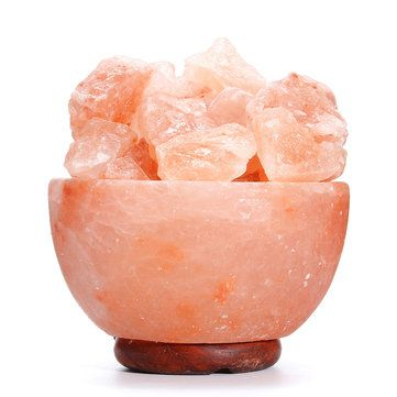 Crystal Himalayan Natural Salt Rock Night Light Tealight Air Purifying Table Lamp Sale - Banggood.com