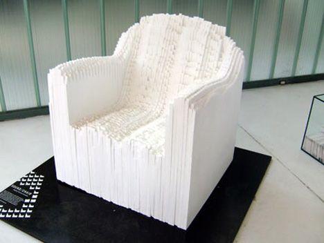 "Matthew Plummer Fernandez ""Sound wave chair"" - Sound wave of music translated into a real object http://cargocollective.com/plummerfernandez#"