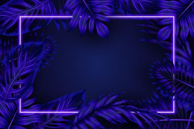 Download Realistic Leaves With Blue Neon Frame For Free En 2020 Fondos De Escenarios Fondos Para Miniaturas Fondos Para Pc Tumblr