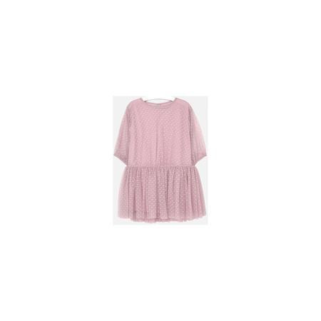 Mayoral Платье для девочки Mayoral  — 3449р. ------------------- Платье для девочки Mayoral (Майорал) от известного испанского бренда Mayoral. Воздушное платье нежно розового цвета выполнено из тюля в мелкий горошек. Подклад из розового поплина. У изделия круглая горловина, короткий приспущенный рукав, сборка на талии и пышная юбка. Сзади имеется застежка на пуговицу с вырезом в форме капли. Легкое платье идеально подойдет для жаркой погоды. Может быть повседневным или праздничным вариантом…