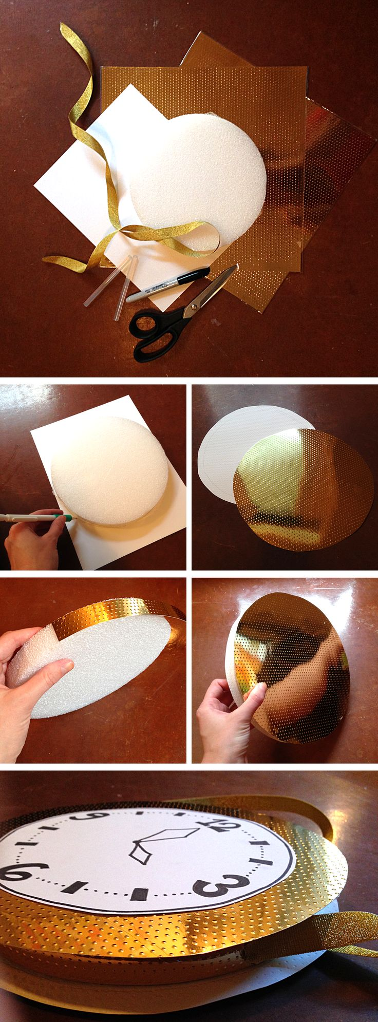 Glitzy Clock Tutorial by Bunny Baubles
