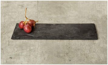 Black is always in vogue, thanks to the way it makes a space look sleek and contemporary. Consider plating your gourmet creations on a slate black platter instead of on standard white serving plates.