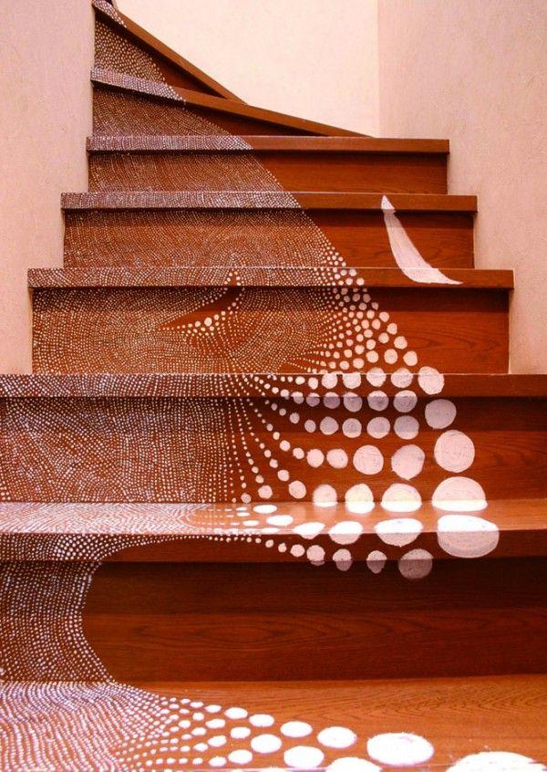 "Using thousands of meticulously painted dots (""ten-ten"" in Japanese) designer and photographer Miharu Matsunaga"