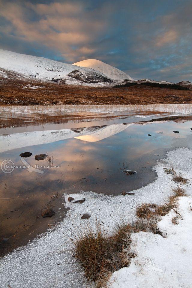 Beinn na Cailleach and Lochan Cill Chriosd, Winter Sunset, Isle of Skye, Scotland.