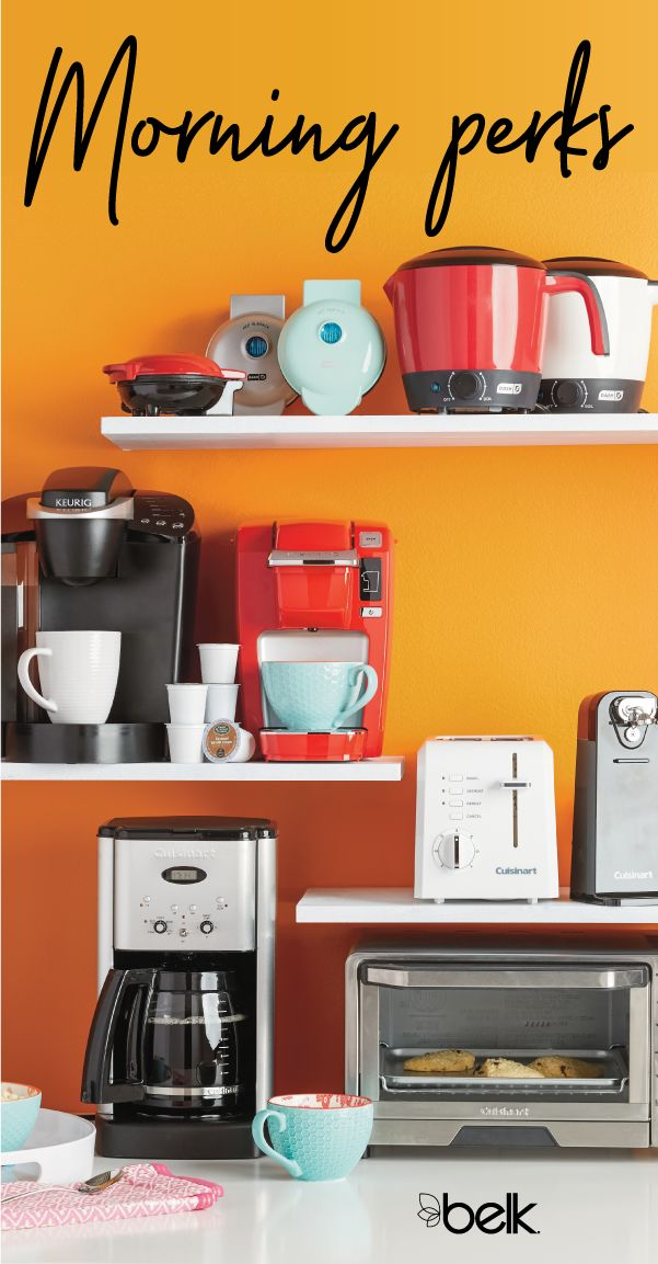 Searching for the perfect dorm room coffee maker? Belk has a variety of coffee machines and coffee pots to choose from – including traditional coffee makers as well as tech-savvy brands like Keurig. Whether you need a single-serve machine or one to make a full pot for a family or a few roommates, there's a coffee maker to suit every household's needs. Shop coffeemakers in store or online at Belk.com.