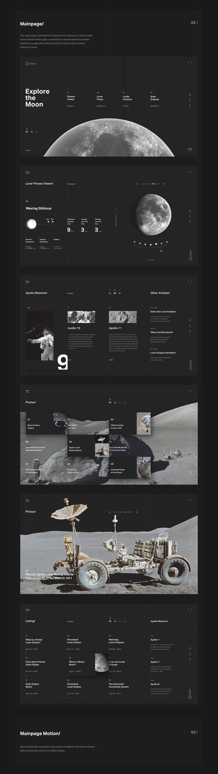 Web Design & UI/UX: Explore the Moon