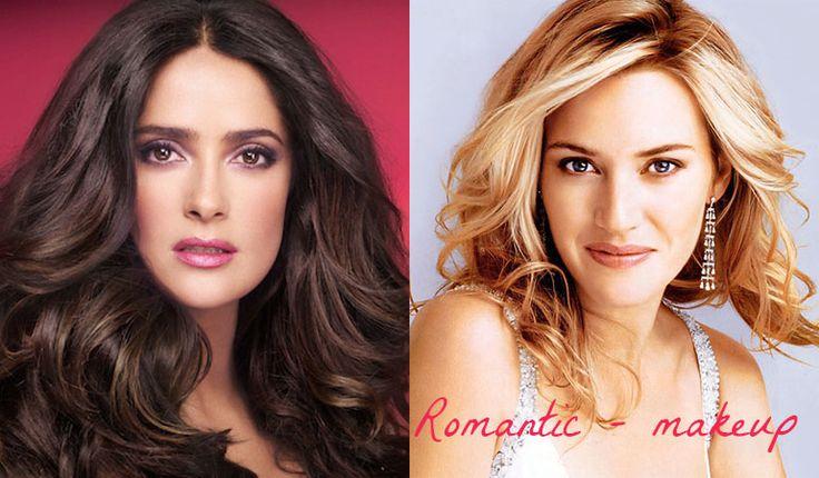 Salma Hayek and Kate Winslet - makeup for Romantic (Kibbe). Typ urody Romantic – seksbomba