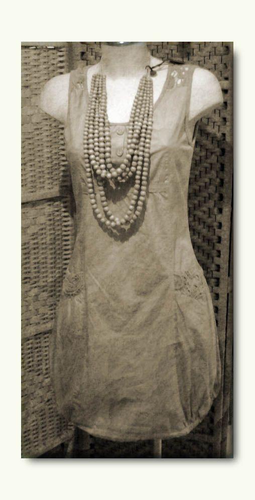 """collana legno """"naturalia"""" collezione p/e 2014 abito cotone collezione p/e 2014 — presso Neo.chiC."""
