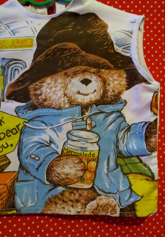 Vintage up-cycled Paddinton bear pillowcase top 3-4 years £8.99