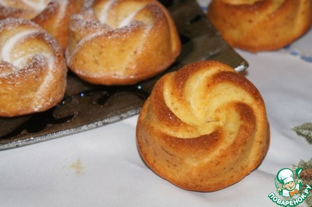 Апельсиновые кексы с цукатами - кулинарный рецепт