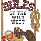 This+purchase+includes: Color+Classroom+Rules+Signs+with+a+Wild+About+School!+Wild+West+theme.++Font+is+Comic+Sans+Print. Just+print+a+set,+laminat...