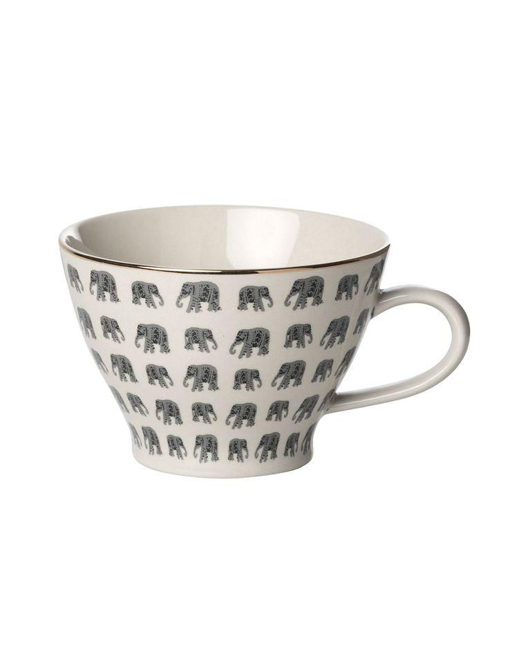 PLAIN GOLD PRINT mugg | Mugs/cups | muggar och skålar | Glas & Porslin | Inredning | Indiska.com