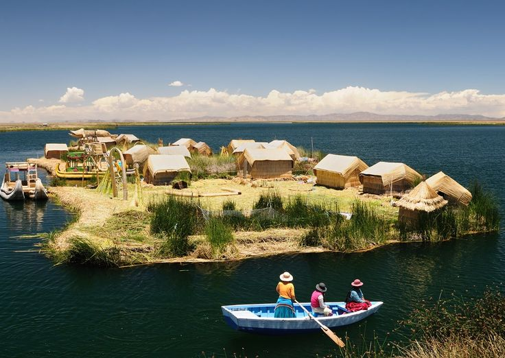 Floating Uros islands on the Titicaca lake #Peru http://www.southamericaperutours.com/