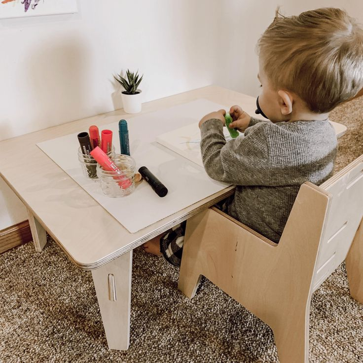 wooden toddler chair with arms