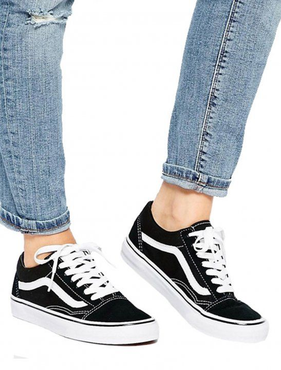 Old skool classic trainers worn in the Mabels music video Fine Line  featuring Not3s .  3ffae72a5f7d
