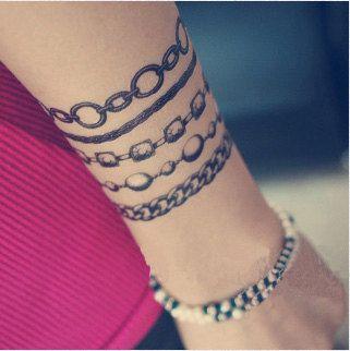 Tattoo temporary, Long lasting tattoo - accessory tattoo, bracelet tattoo