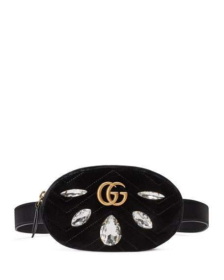 8a5ecb291 GG Marmont Small Quilted Velvet Belt Bag | Gucci Gang | Bags, Belt ...