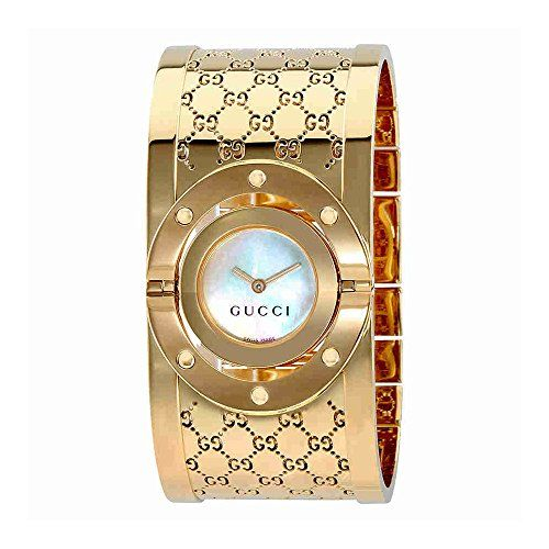 Gucci Twirl G-Tone White Dial Ladies Bangle Watch YA112440 - Reviews