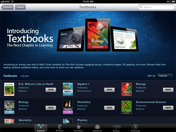 Apple launches iBooks 2 e-textbook platform. I think I'm on board with this