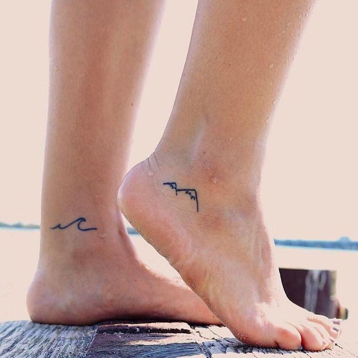 fine Simple mountain tattoo design 196