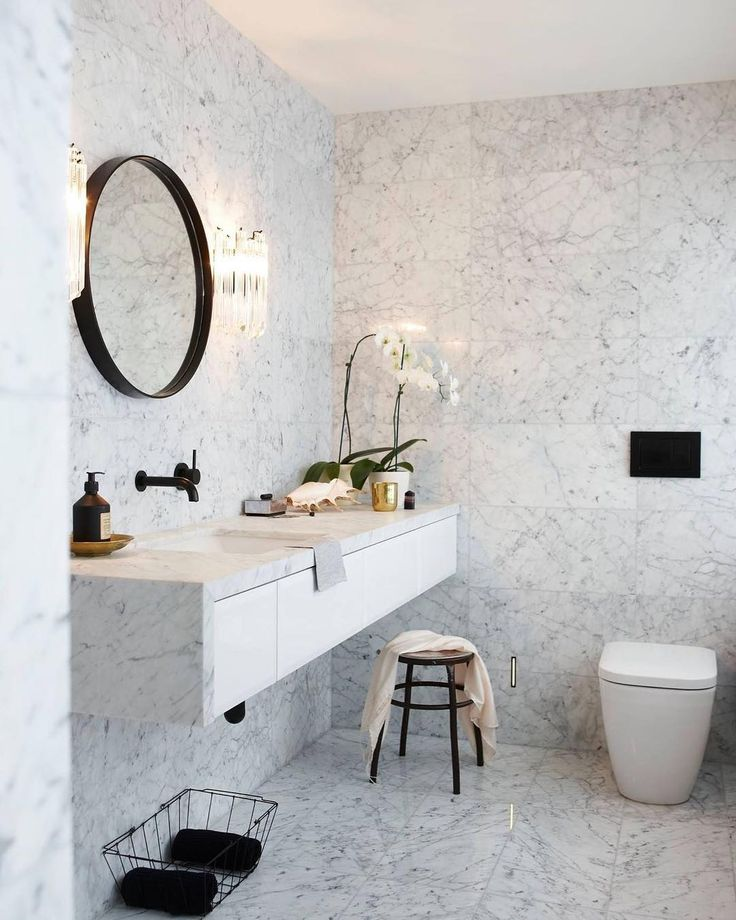 "5,207 Likes, 56 Comments - Immy + Indi (@immyandindi) on Instagram: ""Marble bathroom love via @yourhomeandgarden photo by @jackiemeiringphotography 