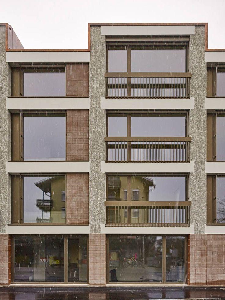 Aita Flury - La Contenta apartments, Domat 2015. Via, 2, photos © Ralph Feiner…