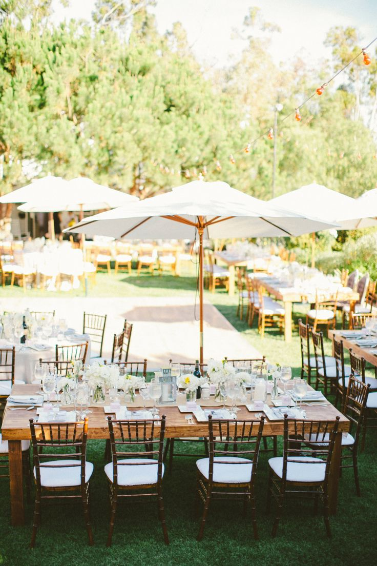 outdoor wedding with market table umbrellas see the wedding on smp http: metre giant umbrella