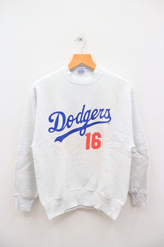 Vintage Dodgers 16 Nomo 16 Mlb Major League Baseball Sportswear Gray Sweater Sweatshirt S Pullover Sweater Sweatshirts Grey Pullover Sweater Sweater Sweatshirt