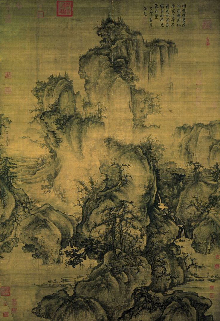 Early Spring, China,  |Artist = Guo Xi (Kuo Hsi) (ca. 1020–1090) |Year = 1072  {Technique|ink and light colors|silk}  |Dimensions = {size|cm|158.3|108.1} National Palace Museum